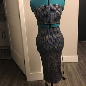 Sequin skirt with matching bandeau